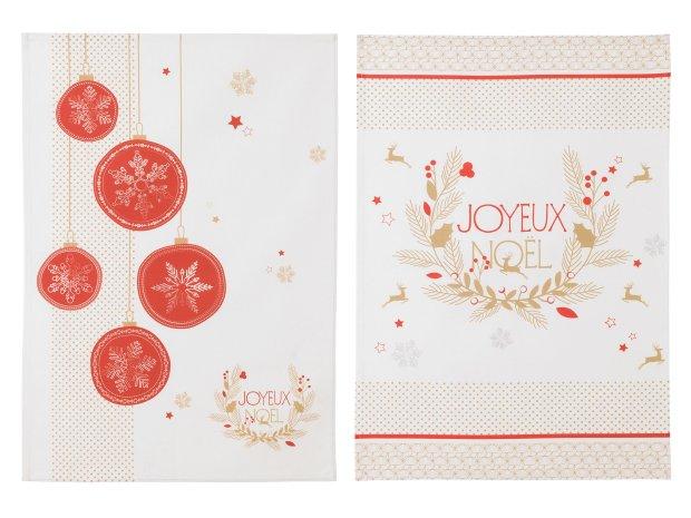 llc3317023-0403-2250-p00-torchon-coton-couronne-boules-joyeux-noel-rouge-50x75cm-lot-assortis-noel