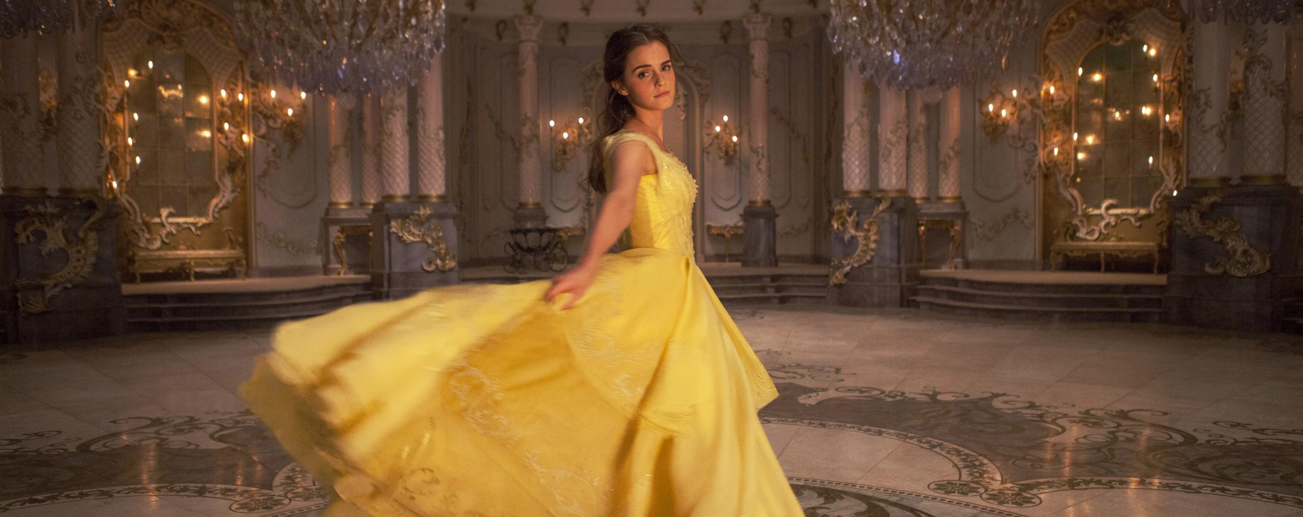 Robe jaune belle et la bete